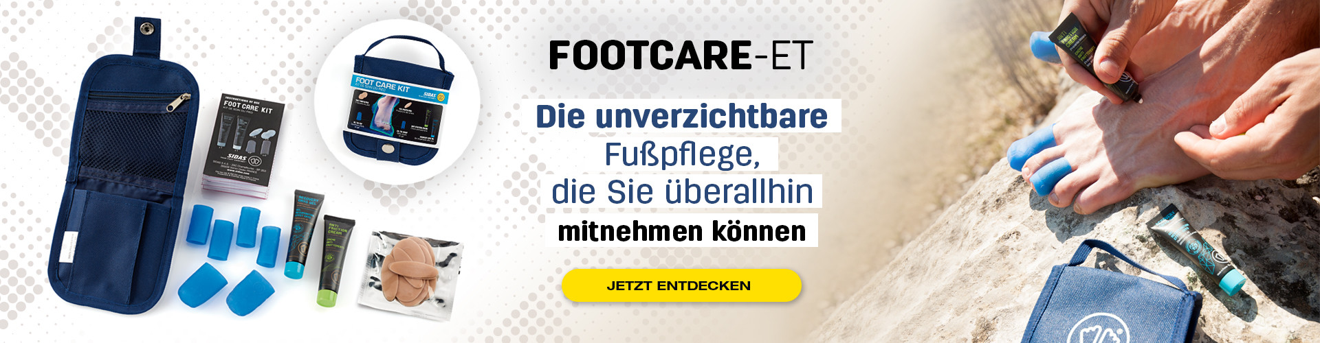 Das unverzichtbare Fußpflegeset: Nehmen Sie es überall mit, um Ihre Füße bei sportlichen Aktivitäten zu schützen