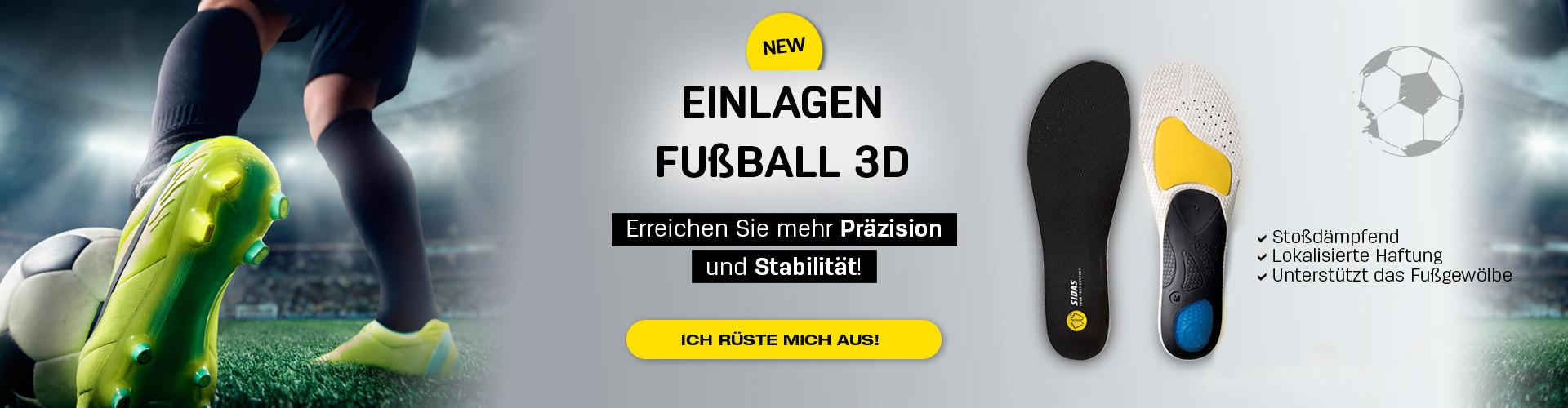 Einlagen Fußball 3D